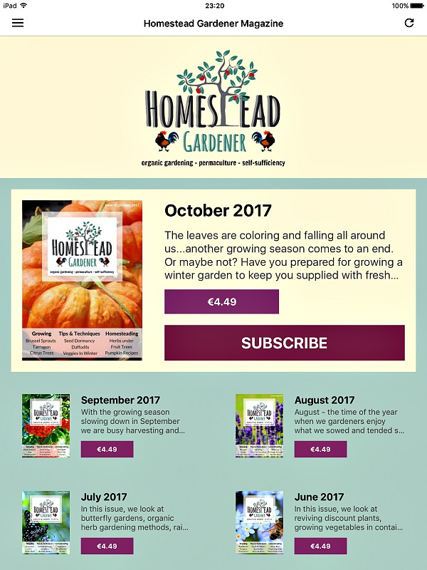 homestead gardener app