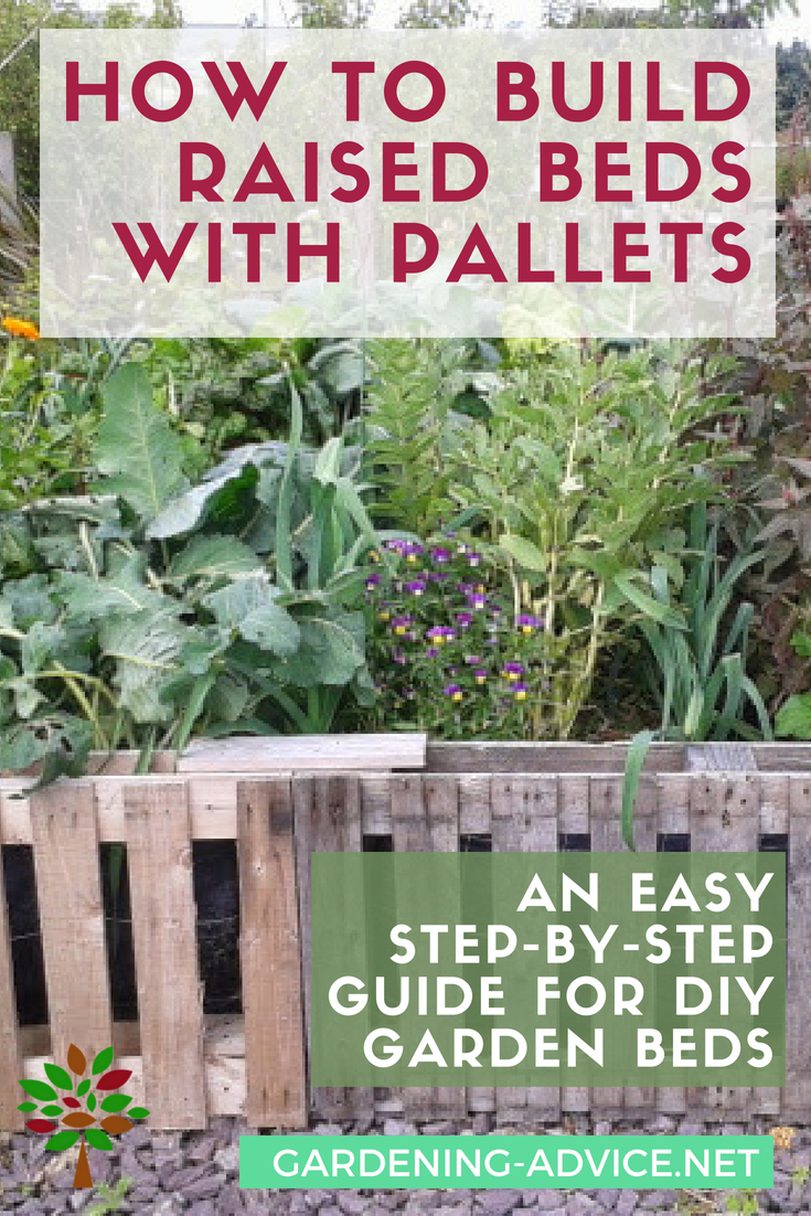 How to build raised beds from pallets #gardening #gardeningtips #organicgardening #permaculture #urbangardening #homesteading #homesteadgarden #diy