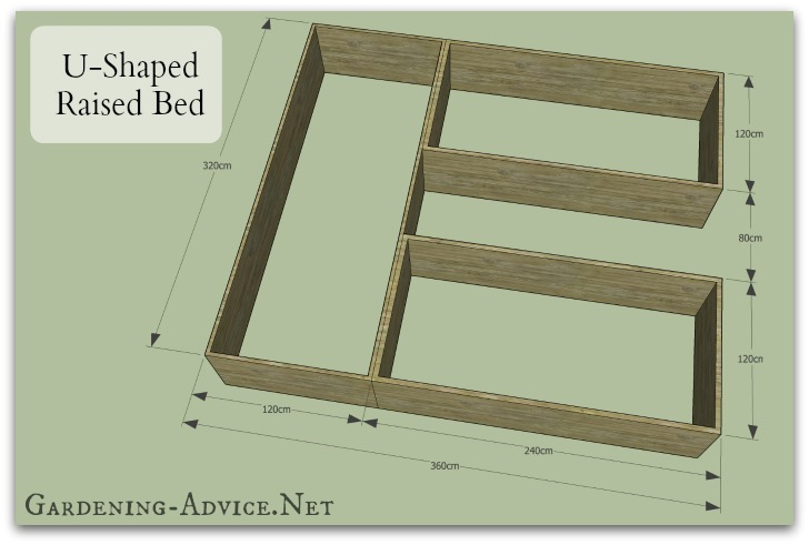 raised garden beds design. U Shaped Garden Bed Easy To Build Raised Plans