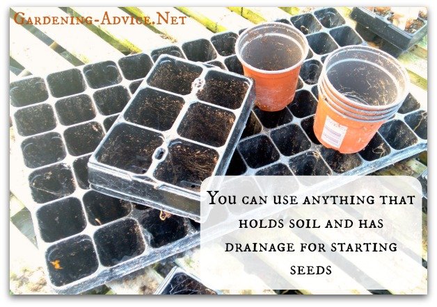 Pots And Cell Trays for Starting Seeds