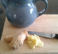 making ginger tea